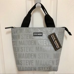 🍽 NWT Steve Madden Insulated Lunch Tote SILVER